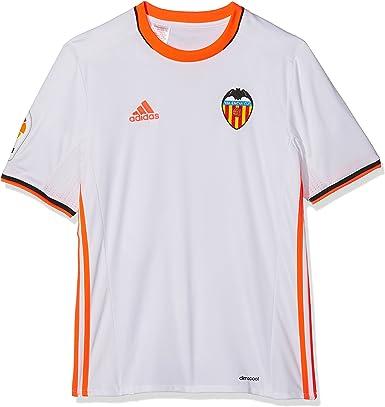 adidas 1ª Equipación Valencia CF Camiseta, Niños, Blanco, 15-16 años: Amazon.es: Deportes y aire libre