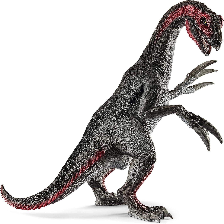 Schleich- Figura dinosaurio Therizinosaurio, Mandíbula y Brazos Articulados, Color Marrón, 19,5cm