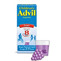 Children's Advil Liquid Pain Relief Medicine and Fever Reducer, 100 Mg Children's Ibuprofen for Ages 2-11, Grape - 4 Fl Oz
