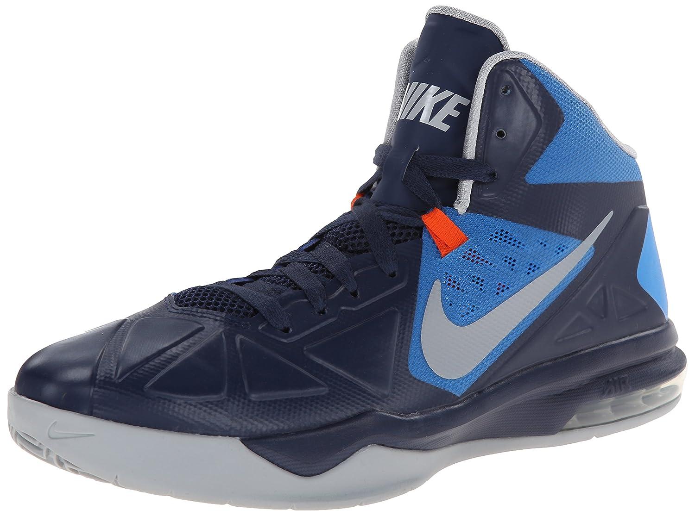 NIKE Men's Air Max Body U Basketball Shoe B00BYBLDFU 9.5 D(M) US|Mid Navy/Wolf Grey/Pht Bl/Tm Orng