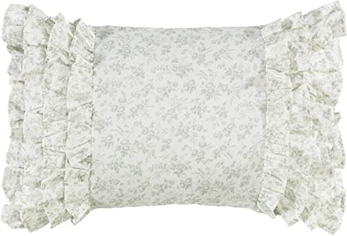 Laura Ashley 220887 Harper Breakfast Pillow, Pale Green, 14×20