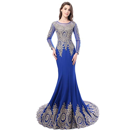 Royal Blue and Gold Dresses: Amazon.com