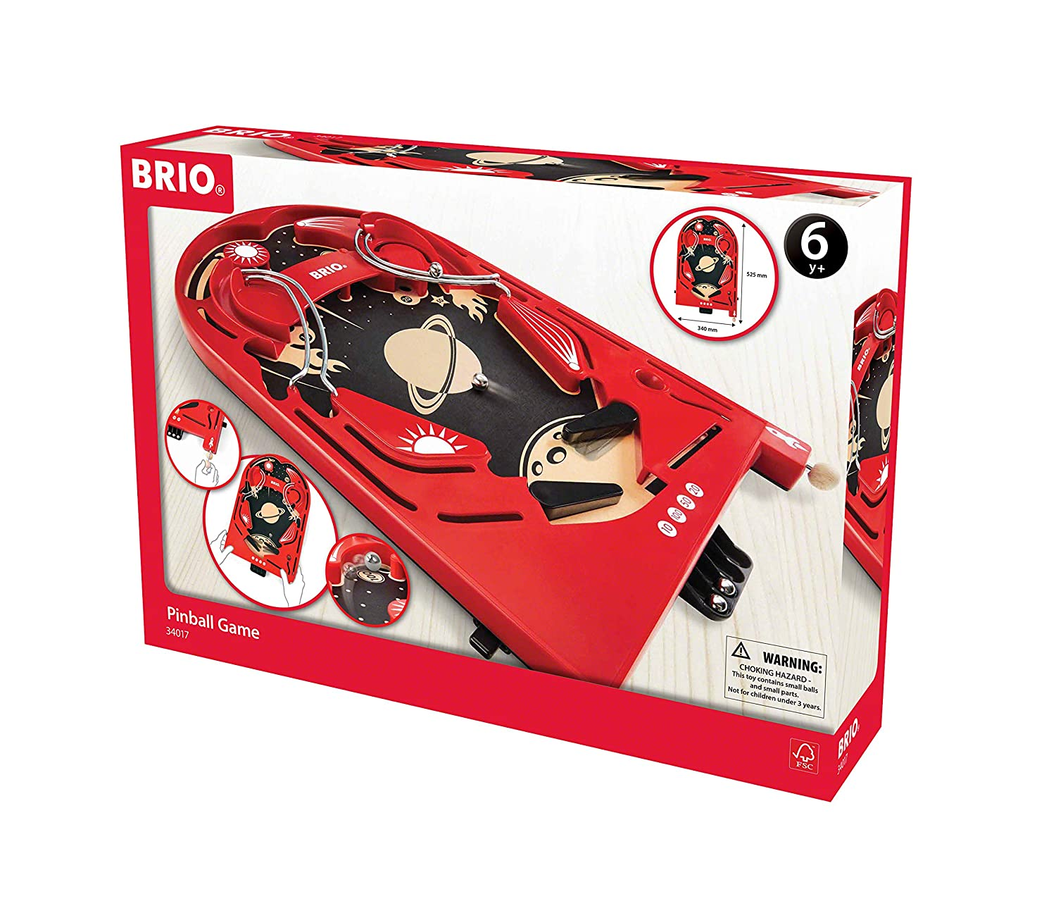 Sensational Brio 34017 Pinball Game A Classic Vintage Arcade Style Tabletop Game For Kids And Adults Ages 6 And Up Interior Design Ideas Gentotryabchikinfo
