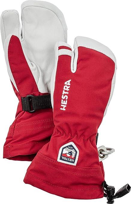 Hestra Army Leather Heli Ski 3-Finger Glove Green 2020