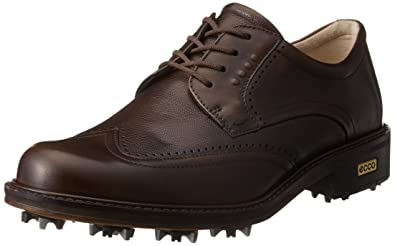 ECCO Men's New World Class Golf Shoe, Cocoa Brown/Cocoa Brown, 44 EU