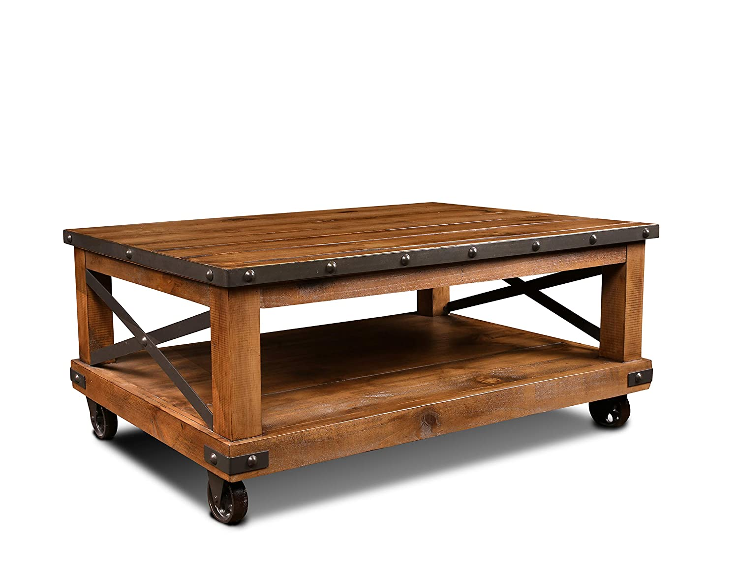 - Amazon.com: Sunset Trading Rustic City Coffee Table, Casters