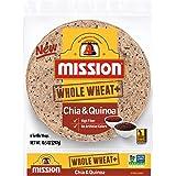 Mission Whole Wheat+ Chia & Quinoa Tortilla Wraps, Whole Grain, High Fiber, Trans Fat Free, 6 Count