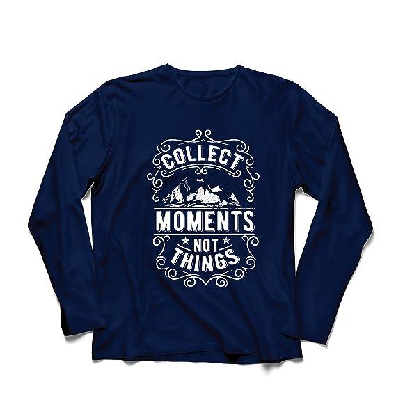 lepni.me Camiseta de Manga Larga Para Hombre Citas Inspiradoras de Amantes  del Viaje 616738a092992