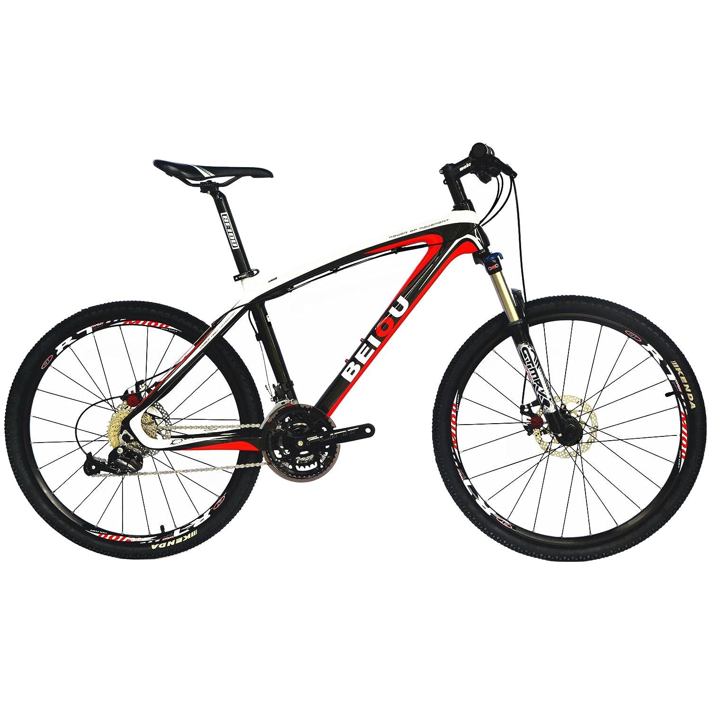 BEIOU® はハードテイルマウンテンバイク26インチシマノ3x9スピードSRAMブレーキ超軽量完全なカーボンMTBフレームレディライド 自転車 CB014A [並行輸入品]   B01JR8HANA