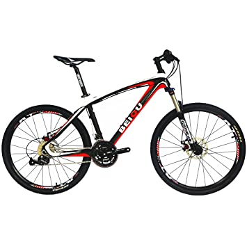 BEIOU® Bicycles Hardtail Mountain Bike 26-Inch Shimano 3x9 Speed ...