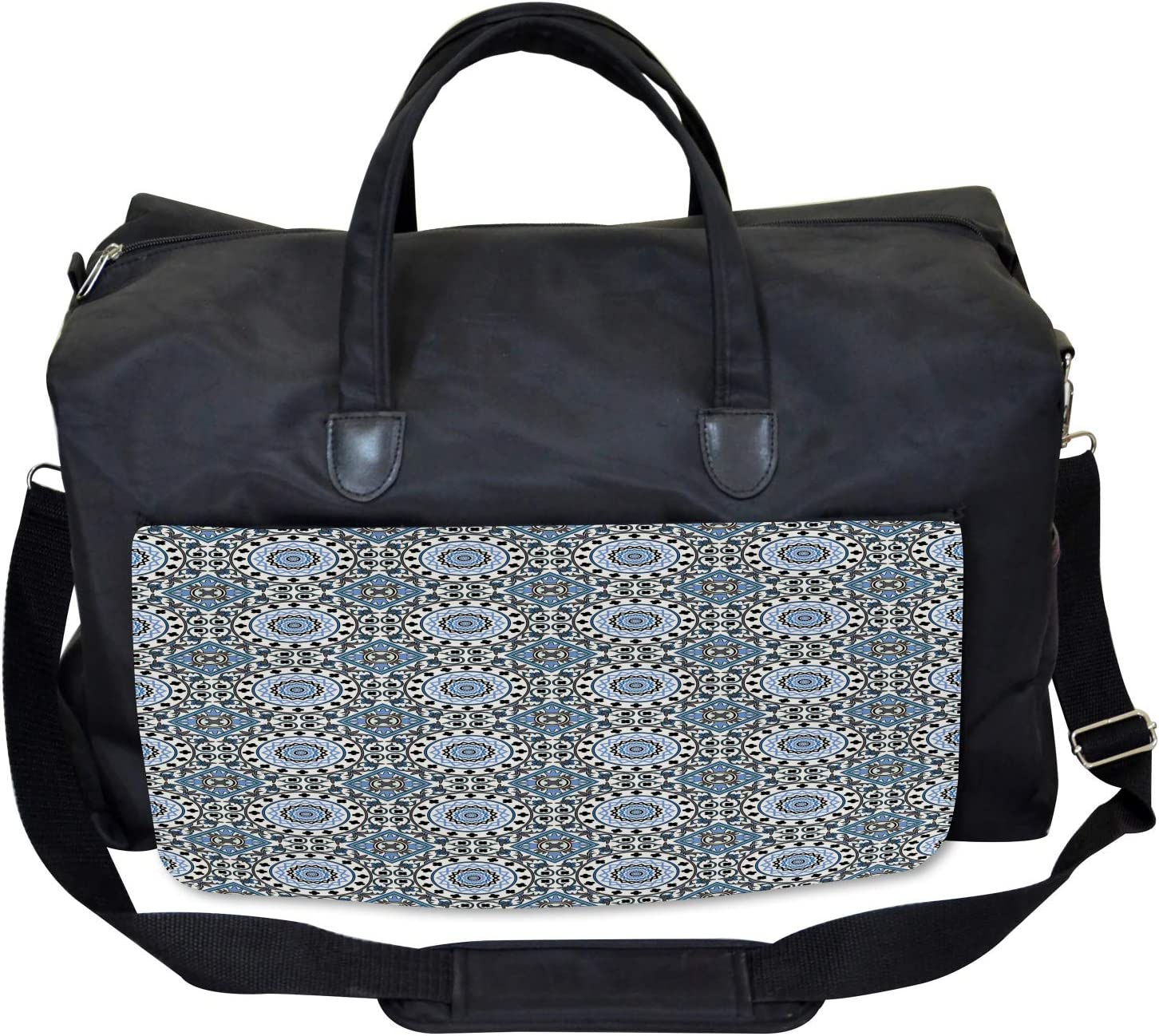 Arabesque Mosaic Motifs Large Weekender Carry-on Ambesonne Retro Gym Bag