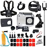 Deyard Y-05 di protezione Custodia impermeabile 35 in 1 Accessori Bundle per Xiaomi 4K/4K+/Yi Lite Action Camera 2