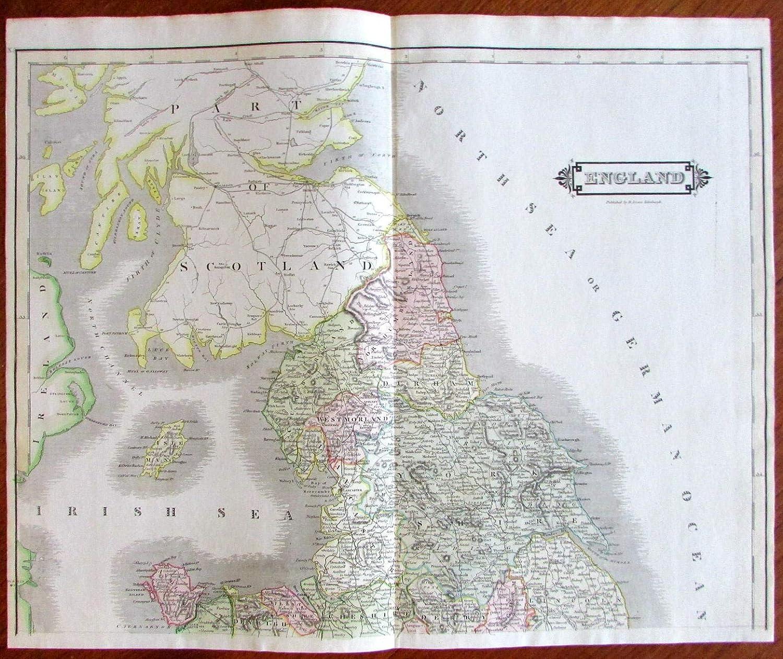 Map Of Uk Derby.Amazon Com England U K Wales Scotland Cornwall Derby London
