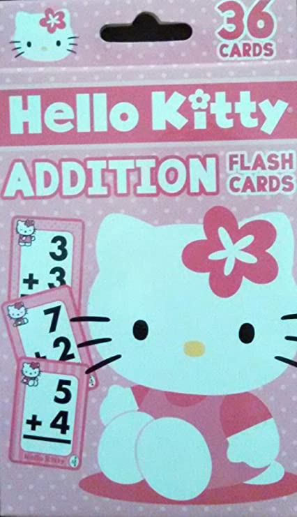 Amazon Com Hello Kitty Simple Addition Flash Cards Toys Games
