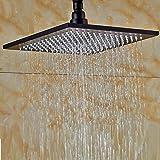Senlesen Bathroom Square 10 Inch Rainfall Shower Head Fixed Mount Oil Rubbed Bronze