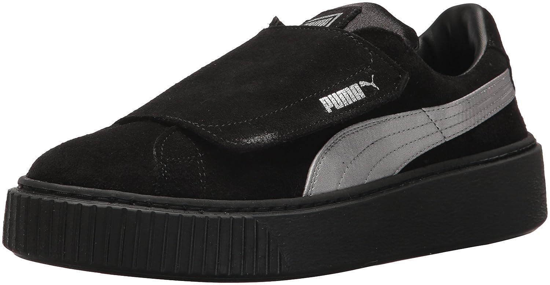 PUMA Women's Platform Strap Satin En Pointe Wn Sneaker B073WHPY89 7 M US|Puma Black-puma Black