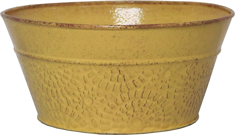 """Robert Allen Home & Garden MPT02020 Cove Series Planter, 8"""", Sunflower"""