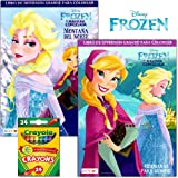 Disney Frozen Coloring Book Set With Crayons 2 Books