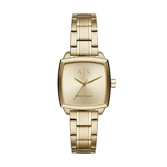 Armani Exchange Reloj Analogico para Mujer de Cuarzo con Correa en Acero Inoxidable AX5452: Amazon.es: Relojes