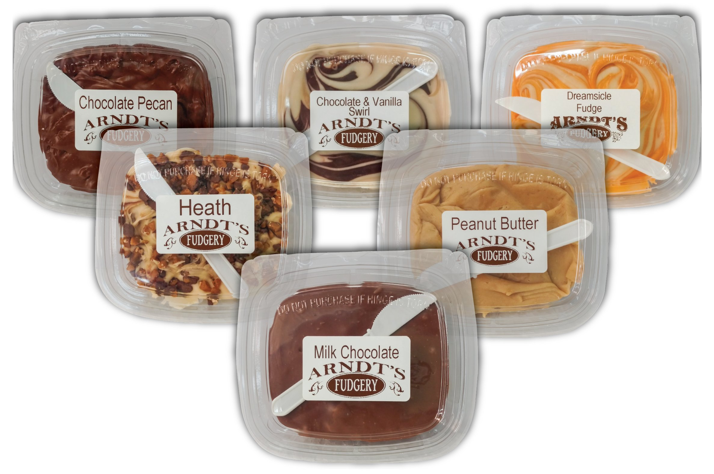 7 Oz Tubs Of Fudge (Six 7 Oz Tubs Of Fudge - Six Great Flavors) by Amish Buggy