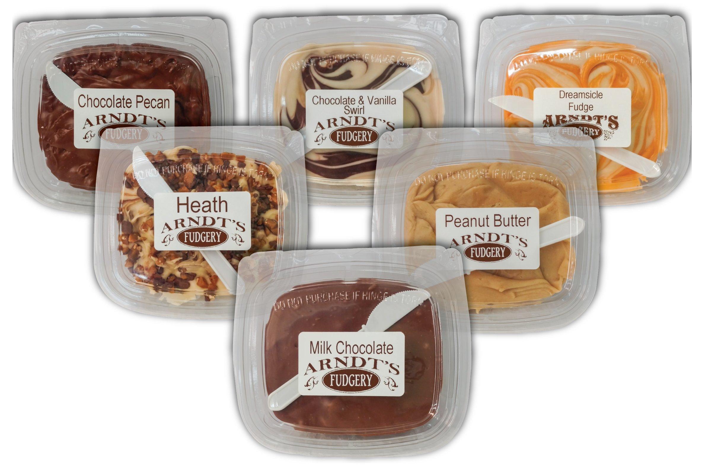 7 Oz Tubs Of Fudge (Six 7 Oz Tubs Of Fudge - Six Great Flavors)