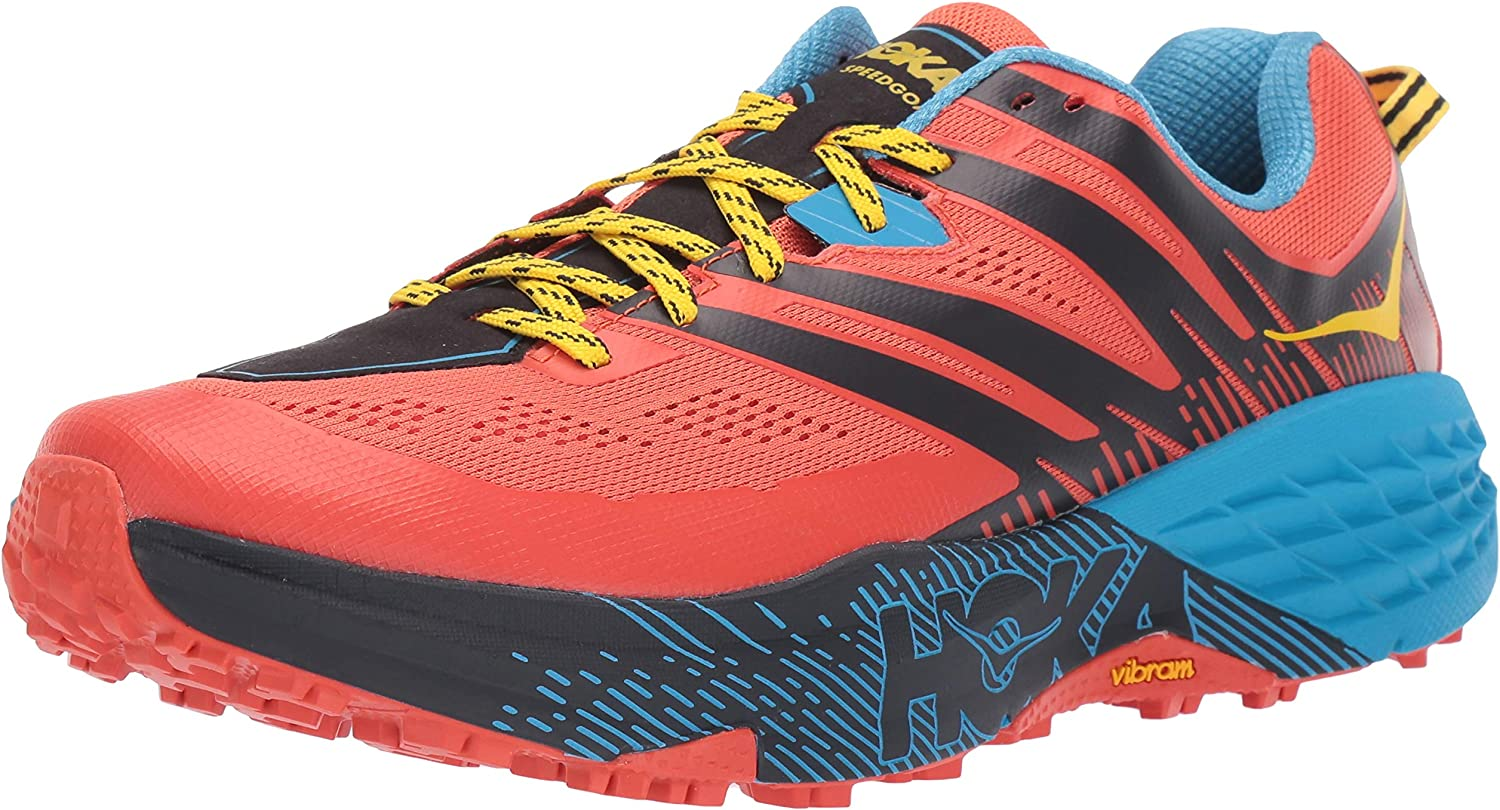 HOKA ONE ONE Mens Speedgoat 3 Nasturtium Spicy Orange Trail Runner – 10.5