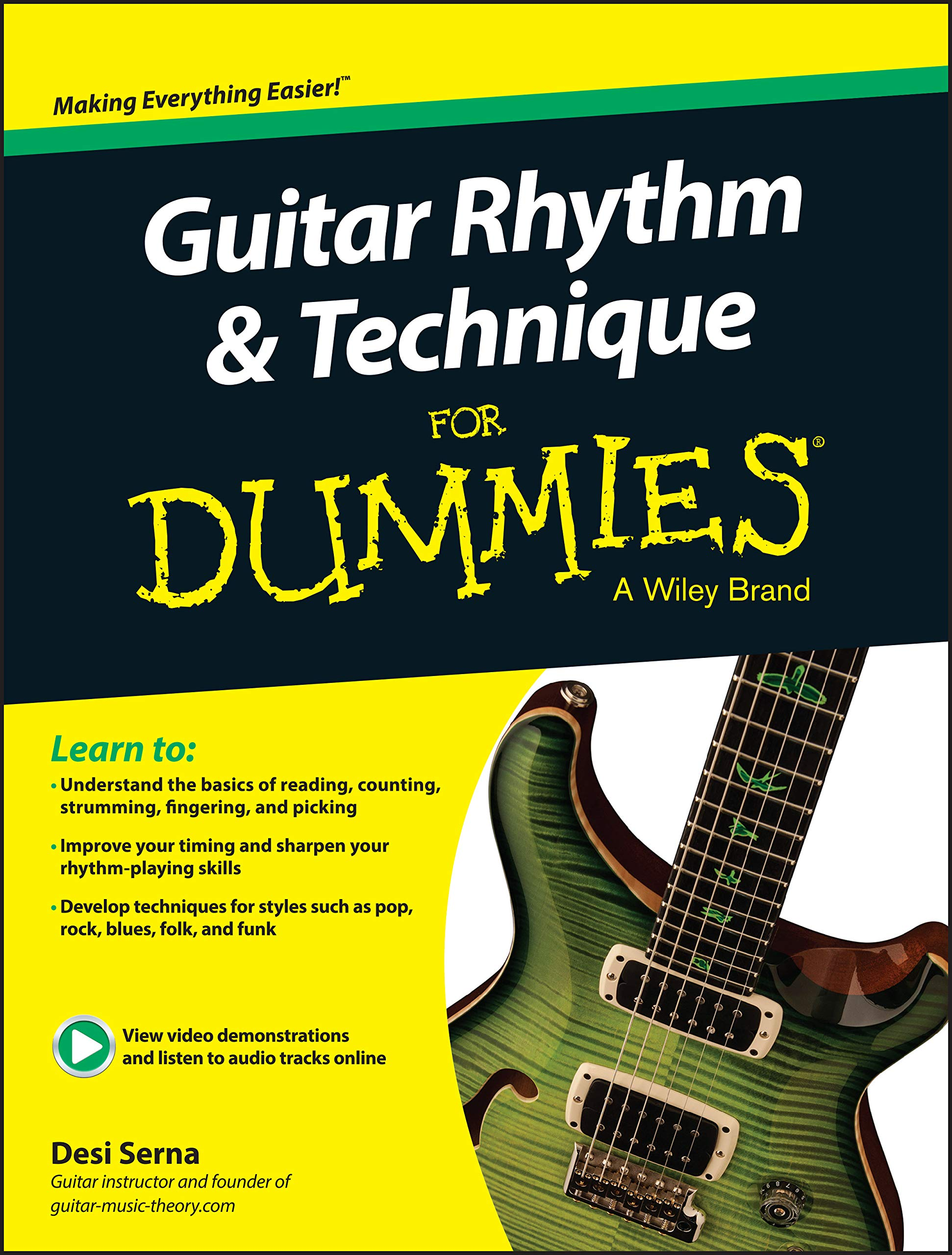 Guitar Rhythm and Technique For Dummies: Book + Online Video ...