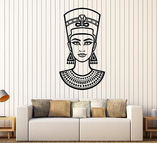 Amazon.com: Vinyl Wall Decal Nefertiti Queen Of Ancient Egypt ...