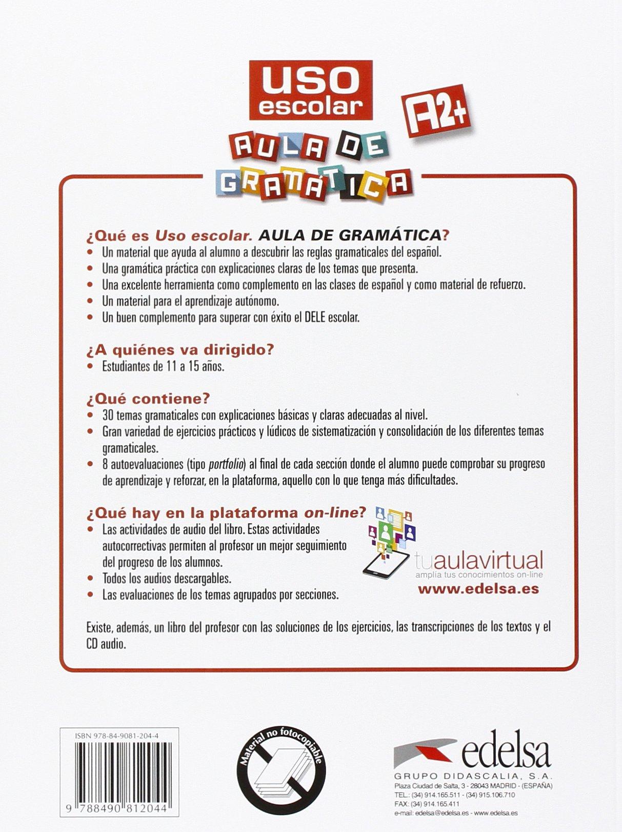 Uso escolar a2 aula de gramtica livros na amazon brasil uso escolar a2 aula de gramtica livros na amazon brasil 9788490812044 fandeluxe Image collections