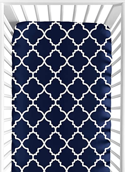 Amazon.com : Navy Blue and White Modern Baby or Toddler ...