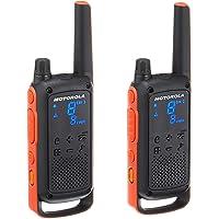 motorola TalkAbout T82 License Free Walkie Talkie, Orange and Black