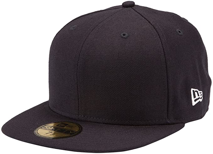 24a3b57b0d2 Amazon.com   New Era Blanks 59FIFTY Fitted Original Plain Blank Cap ...