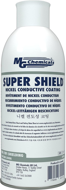 MG Chemicals SUPER SHIELD Nickel Conductive Coating, 12 Oz Aerosol Spray:  Amazon.com: Industrial U0026 Scientific