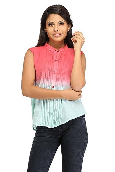 5d644855f17ea Tie-Dye Cotton Tops for Girls   Women - Multicolour Cotton Tops for Ladies  - Round Neck Tops ...