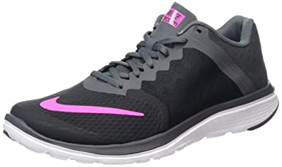 best authentic 17577 a36e9 ... reduced nike womens wmns fs lite run 3 black and pink running shoes 6.5  uk fd33f