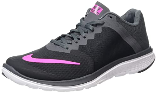 7f19140c731d Nike Women s WMNS Fs Lite Run 3 Black and Pink Running Shoes - 6.5 UK