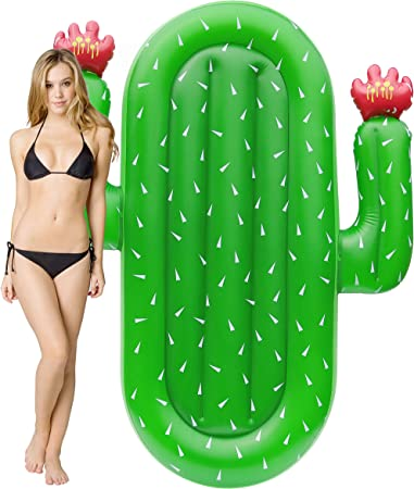 Kurala Inflatable Cactus Pool Float Summer Water Toy Kids Adults 69 Inches Long