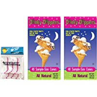 Dinky Dippers Miniature Ice Cream Cones 1.95 Ounce (2 Pack) Bundled with PrimeTime Direct 20ct Dental Flossers in PTD Sealed Box