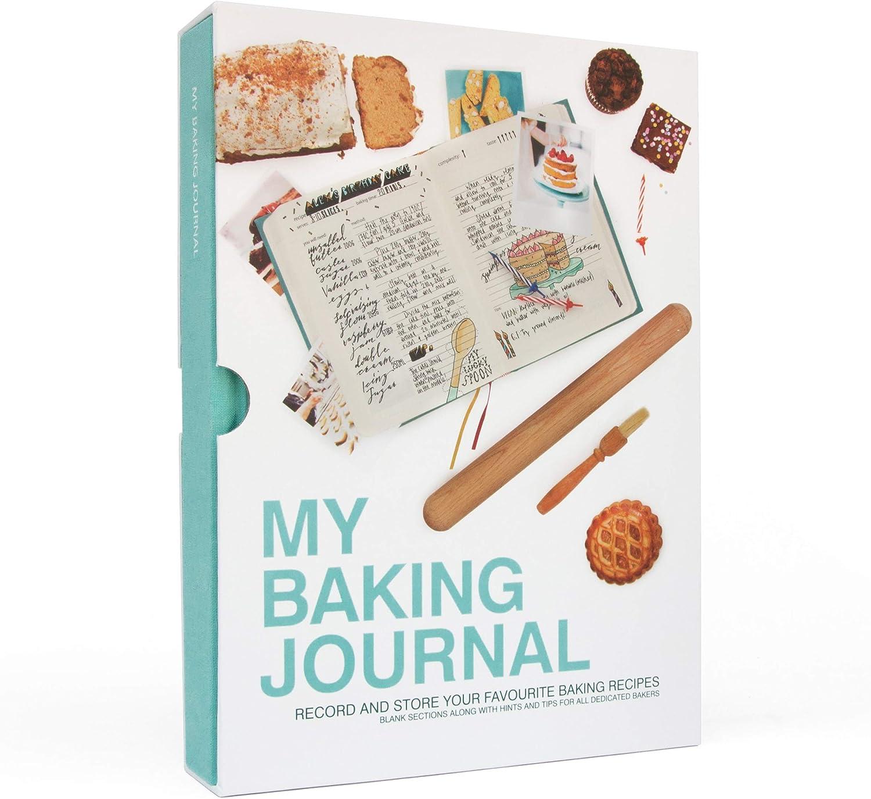 Suck UK My Baking Journal Note Book | Recipe Book | Journal Notebook | Recipe Book for Own Recipes | Food Diary | Recipe Journal | Blank Recipe Book & Food Journal | Hardback Notebook