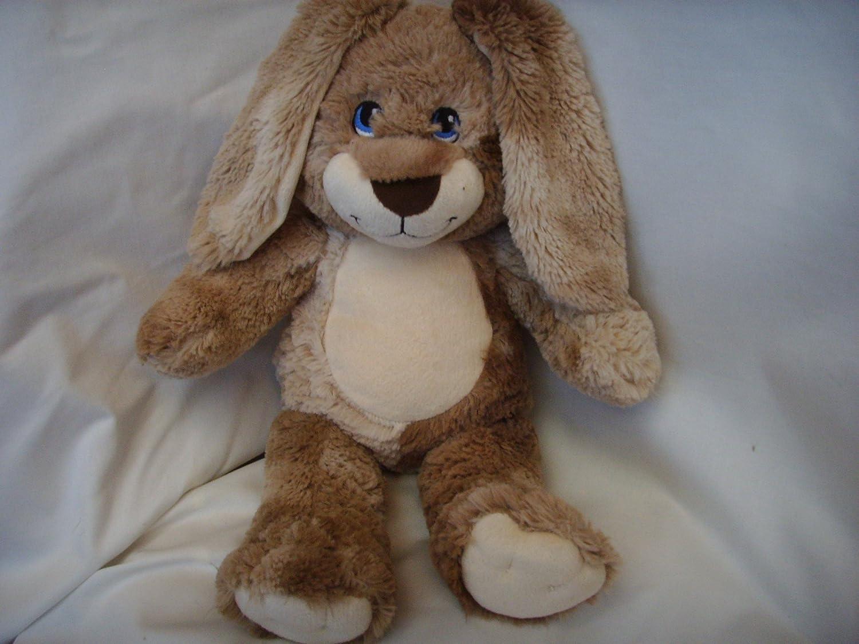Plush Bunny Rabbit Soft Bear Build Stuffed Toy Animal Pink Brown Easter Tan Bear