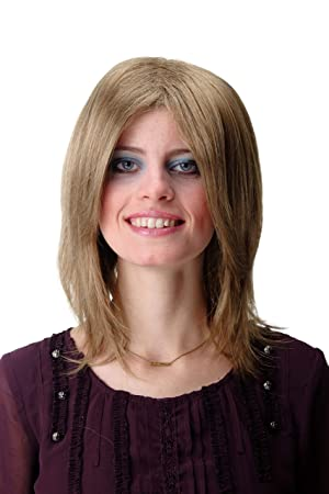 Wig Me Up Gfw892 14 Quality Wig For Lady Men Man Cool Shoulder Length Straight Youthful Indie Rock Star Parting Light Brown Brunette