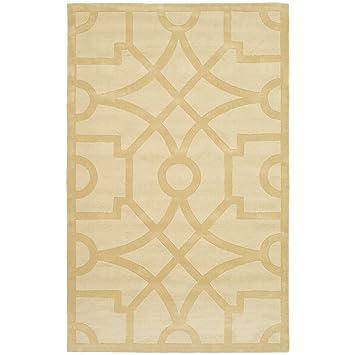 Safavieh MSR4612B Martha Stewart Collection Fretwork Wool Area Rug, 5 Feet  By 8