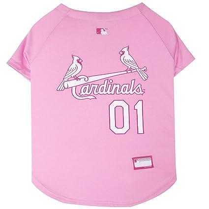 45b6d6a86ecb Amazon.com   MLB Jersey for Dogs - Saint Louis Cardinals Pink Jersey ...