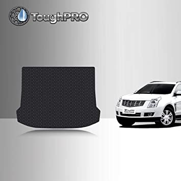 Amazon Com Toughpro Cargo Trunk Mat Compatible With Cadillac Srx All Weather Heavy Duty Made In Usa Black Rubber 2010 2011 2012 2013 2014 2015 2016 Automotive