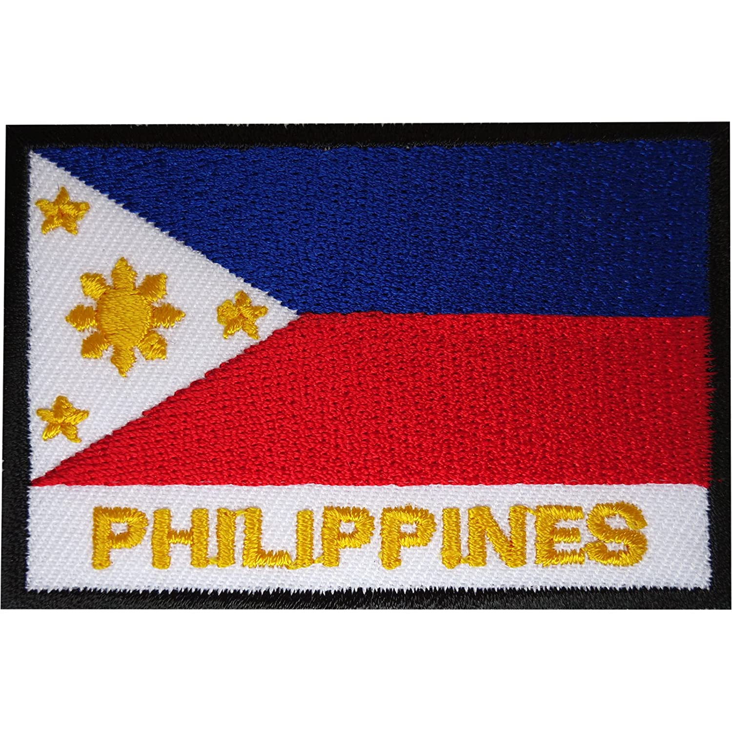 Philippines Flag Patch Embroidered Iron Sew On Clothes Filipino Badge Applique ELLU