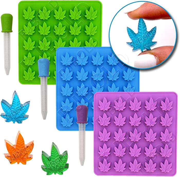 Gummy Leaf Silicone Candy Mold Party Novelty Gift - 3 Pack