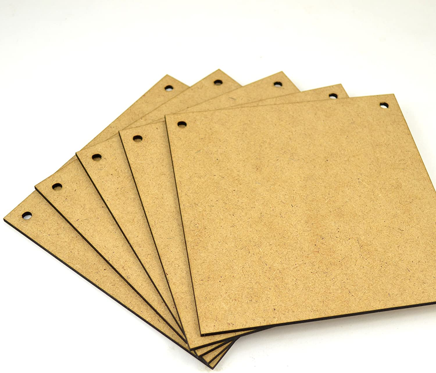 Wooden Square Plaques 20cmx20cm with 2 Holes MDF Wood Sign Craft Blank