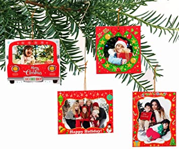 Amazoncom Jollylife 20pcs Christmas Photo Frame Ornaments Xmas