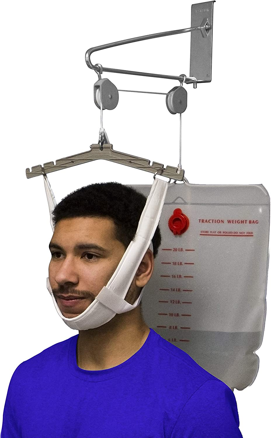 OTC Cervical Traction Kit, Neck Pain Relief, Vertebrae Disk Herniation, Complete Over Door Setup