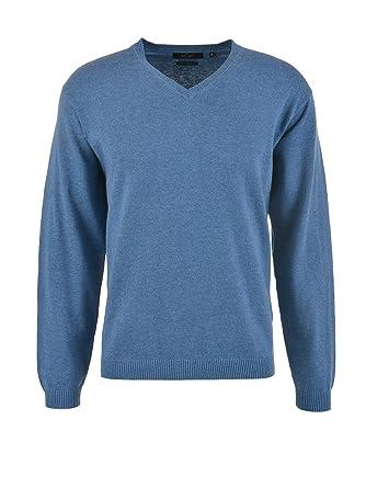 Milano Italy Herren Pullover mit Kaschmiranteil, blau 824 (M